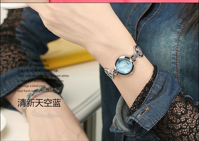 Sinobi 2015 новинка часы женские, люксовый бренд браслет ремешок кварцевые часы, женская мода часы, водонепроницаемые часы 9498