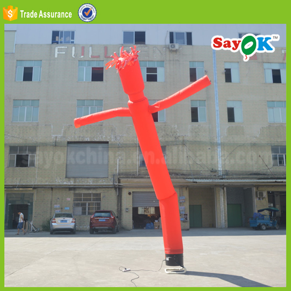 Road Sign One Leg Inflatable Man Air Dancer Costume With