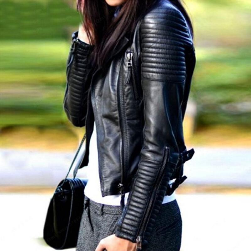 aliexpress chaquetas de cuero mujer