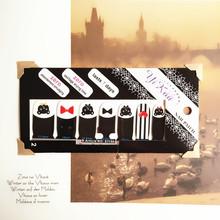 Black Butterfly Lovely Nail Arts 14 pcs set Waterproof Nail Decal Art Sticker Gel Polish French