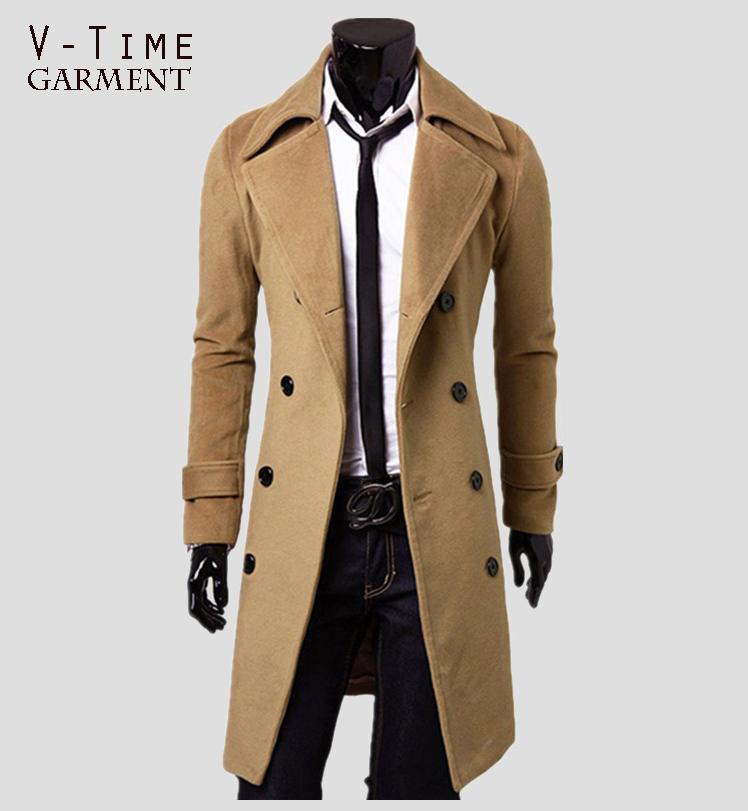 2015 New Arrival Fashion Winter Trench Coat Men Autumn