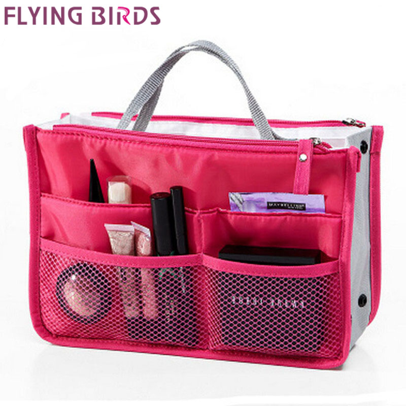 FLYING BIRDS 2015 Multifunction Makeup Organizer Bag Women Cosmetic Bags toiletry kits Outdoor Travel Bags Ladies
