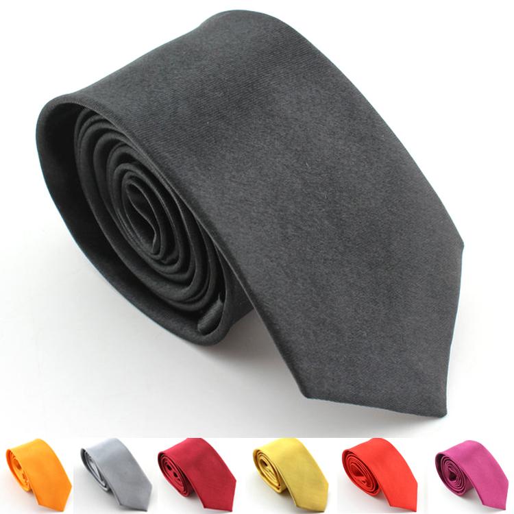 Мужчины в черный перевязка приталенный узкий атлас узкие галстук свадьба ну вечеринку жениха без орнамента перевязка галстук одежда и аксессуары