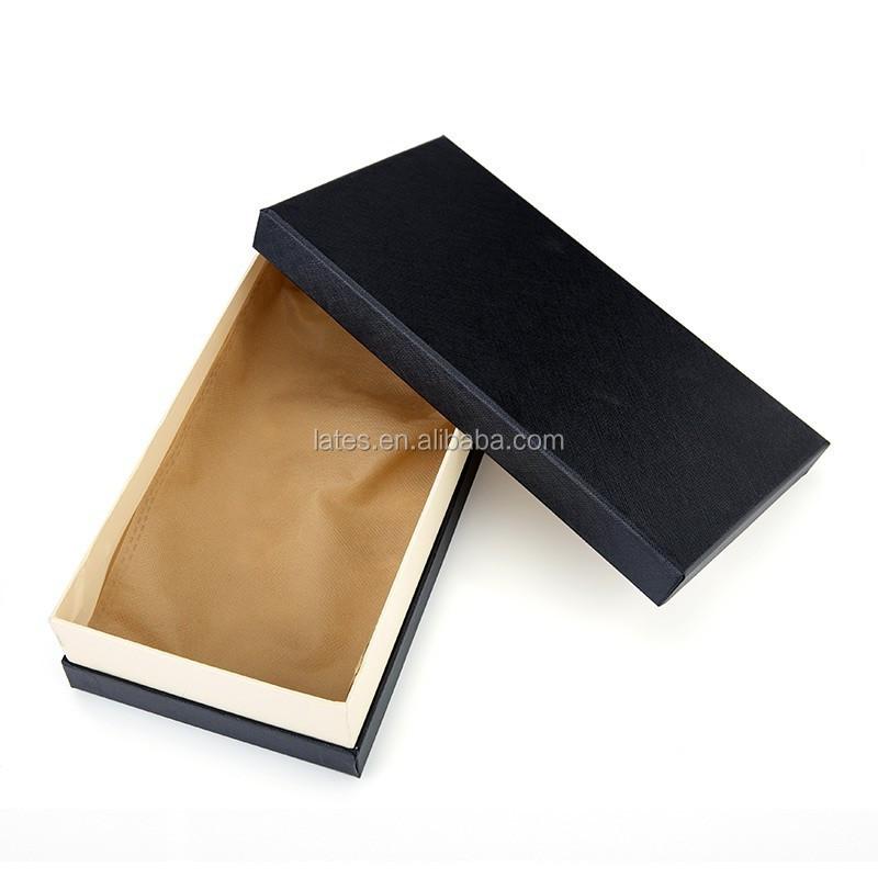 Black Paper Boxes,Fancy Paper Gift Box For Men's Wallet ... - photo#16