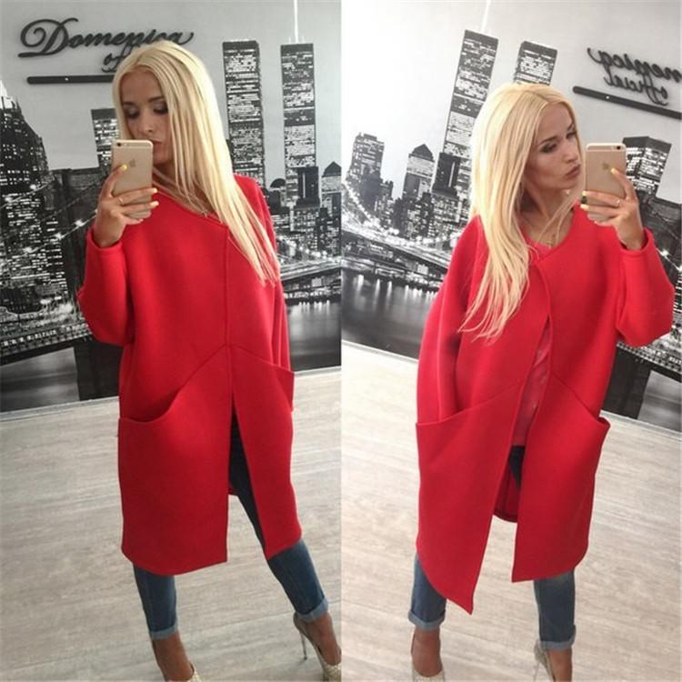 Новое поступление высокое качество женская одежда осень зима пальто долго шерстяное пальто три цвета дешевую одежду китай
