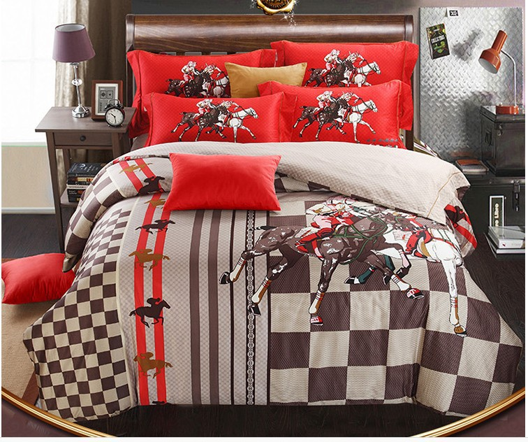 achetez en gros cheval literie ensembles en ligne des grossistes cheval literie ensembles. Black Bedroom Furniture Sets. Home Design Ideas