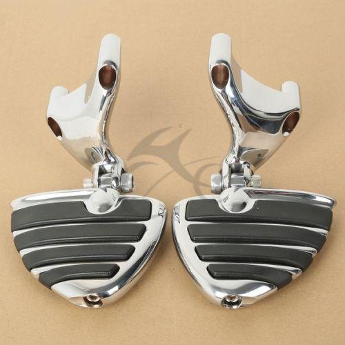 Хром подставка для ног подножки ж / крепление для 2004 - 2013 Harley 883 1200 XL спортстер 05 06