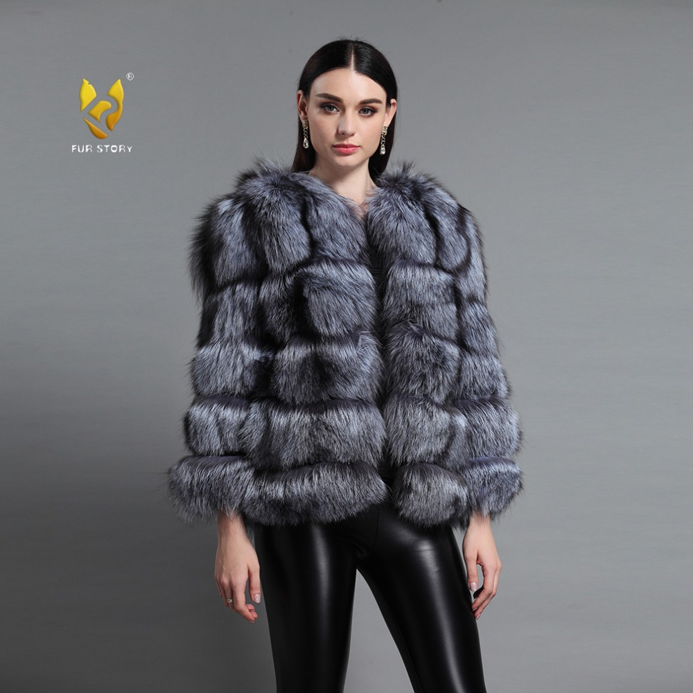 Fur Story 151259 New Style Ladies' Winter Warm Real