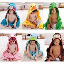 Foreign Trade Baby Infant Absorbent Cotton Bath Towels Cotton Bathrobe For Baby