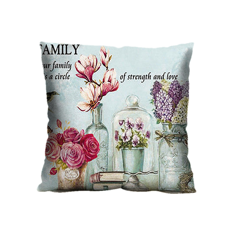 Customized Bohemian Throw Pillow, 18*18 Inch Polyester Zippered Square Pillowcase cover (Twin Sides)