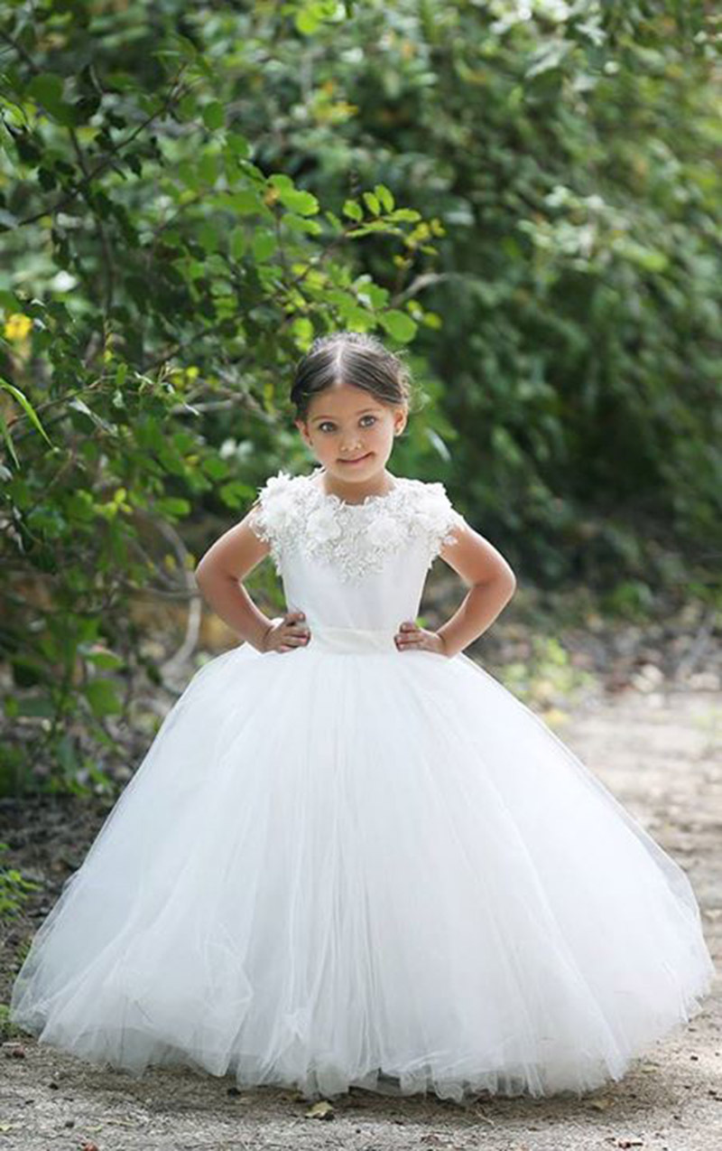 romantic ivory lace flower girl dress child fanny vestidos beach summer wedding party ball gown. Black Bedroom Furniture Sets. Home Design Ideas