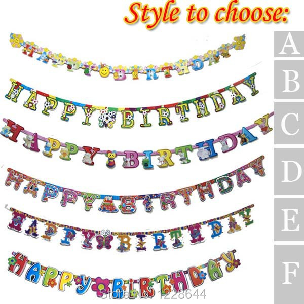 Happy Birthday Letter Banner Party Supplies Classic Toys