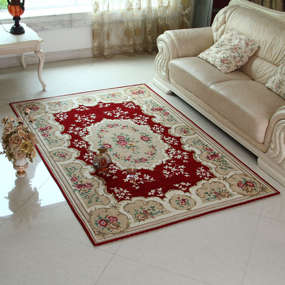 Throw Rugs In Bedroom: European Exquisite Non Slip Thicken Living Room Floral