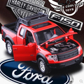 New Ford F150 Raptor 1 32 Pickup truck Simulation alloy car toy Flashing Pull Back Baby
