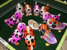 100pcs Hot sale Dalmatians Bulldog Pug Colorful Huagou Shepherd dog walking balloons globos ballons decoration birthday