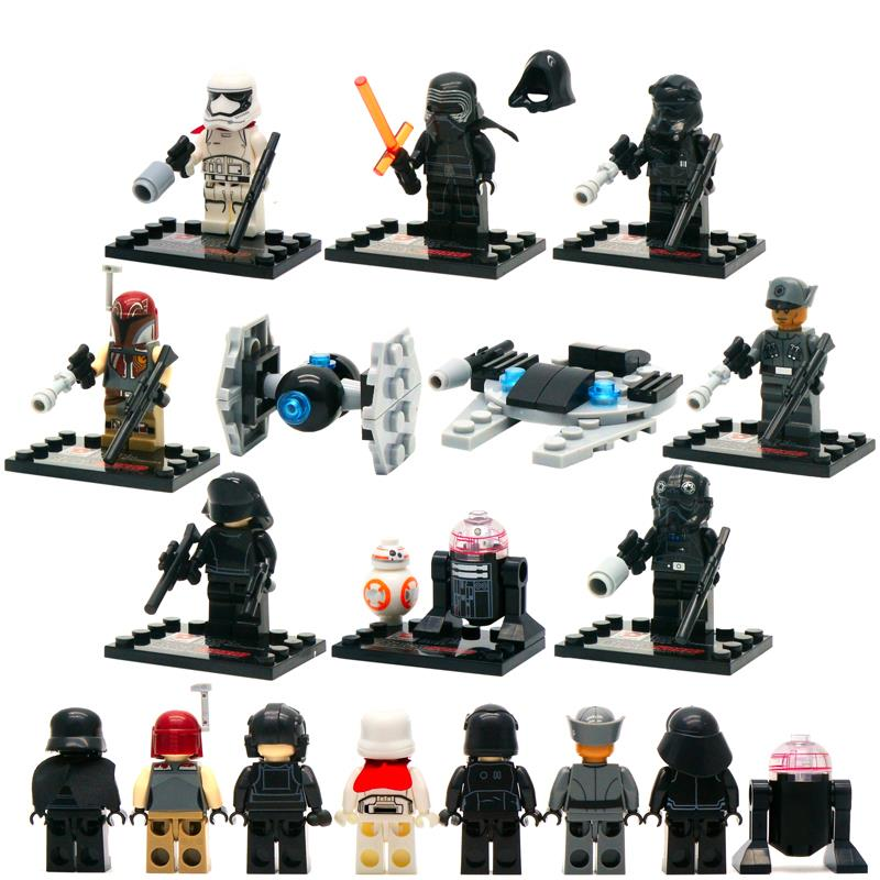 8pcs/lot Star Wars: The Force Awakens Moive Star War Kid Baby Toy Mini Figure Building Blocks Sets Model Toys Minifigures Brick