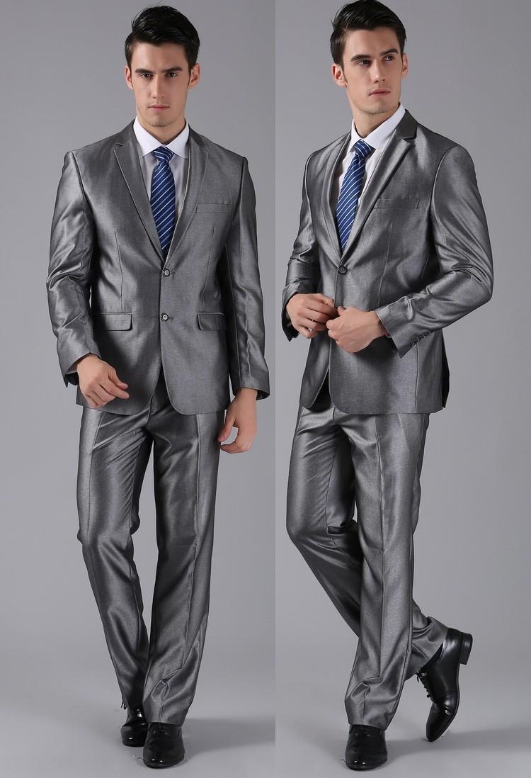 (Kurtki + Spodnie) 2016 Nowych Mężczyzna Garnitury Slim Fit Niestandardowe Garnitury Smokingi Marka Moda Bridegroon Biznes Suknia Ślubna Blazer H0285 30