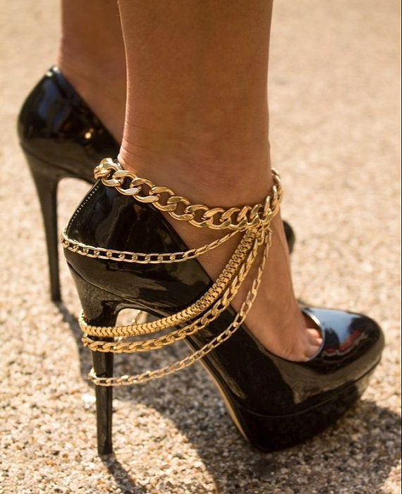 Promotion New Charm Gold Plated Anklets for Women Ankle