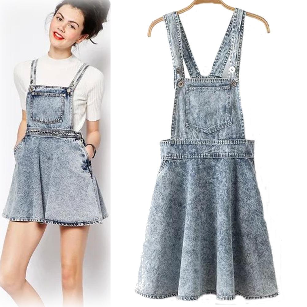 Denim Overalls Skirt 58