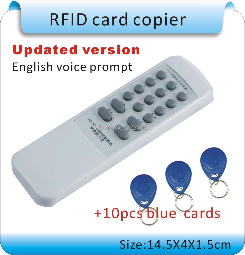 Обновленная ручной 125 кГц - 13.56 мГц rfid-тегов копир дубликатор копирования ID / IC и писатель 10 шт. 125 кГц + 2 шт. 13.56 мГц карты