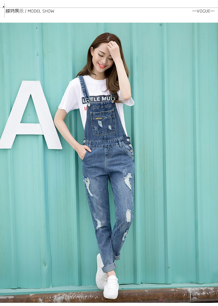 71e423d613 2019 Wholesale Spring Fashion Ripped Jeans Jumpsuits Ladies Girls ...