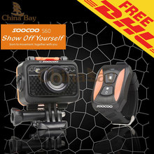 "Original SOOCOO S60 1080P Sports Action Video Camera Waterproof 60m SOS Anti- Shake 170 Degree Wide Angle WiFi 1.5 "" LCD Camera"
