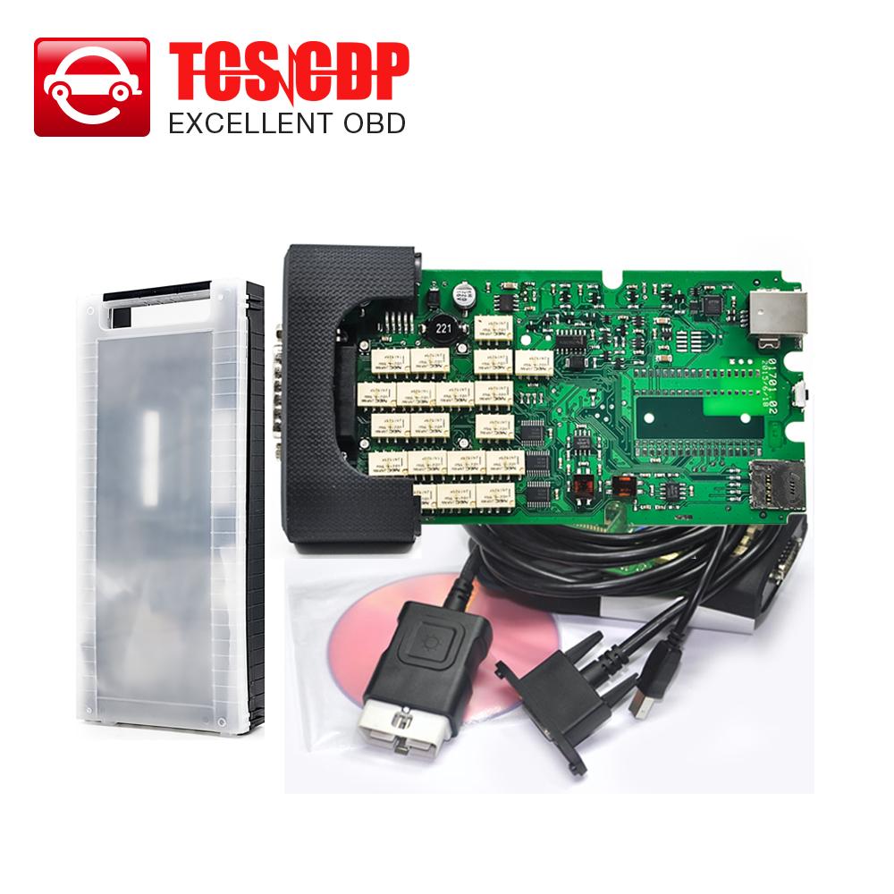 Высокое качество + зеленый одноплатный TCS плюс авто сканер не bluetooth 2014. R2 keygen + пластиковую коробку