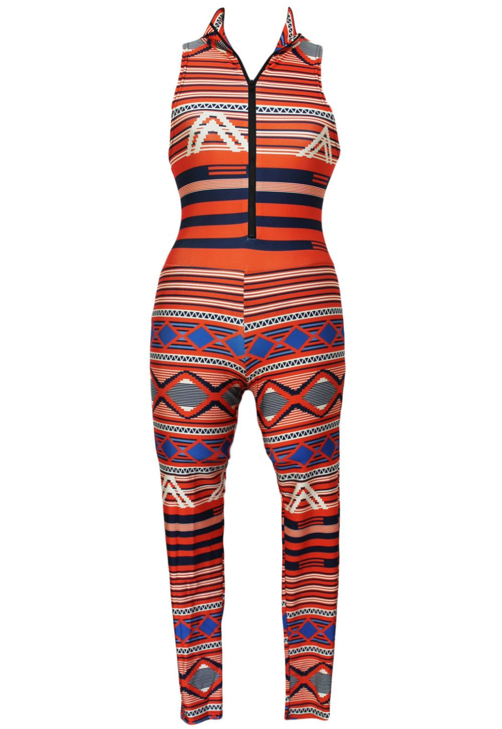 500d4cfc378 2019 Wholesale The Moroccan Tribal Bodycon Jumpsuit LC6960 Macacao ...
