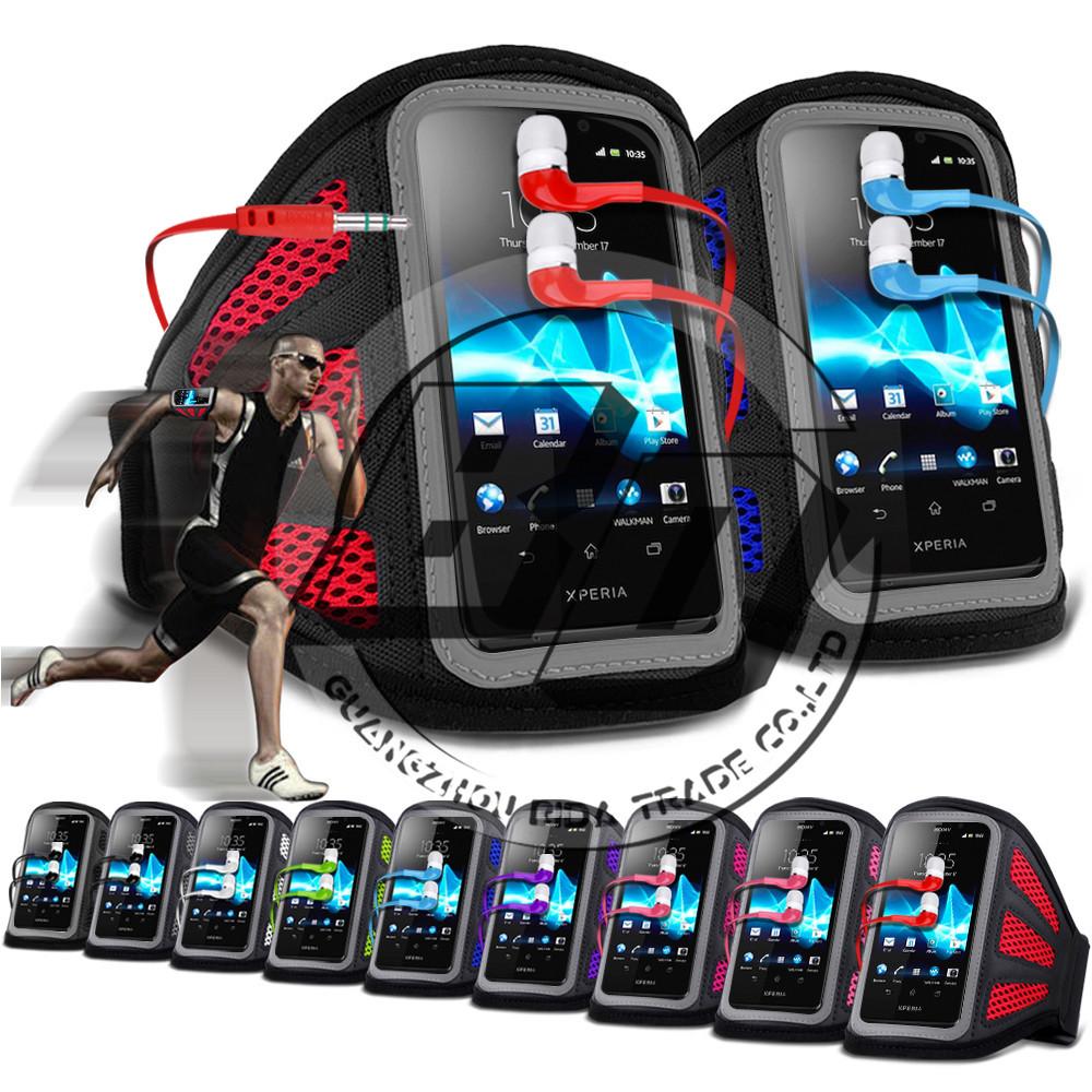 Для Sony Xperia T L30P сетки дыхательные отверстия сотовых телефонов запуск тренажерный бег повязки чехол для наушников