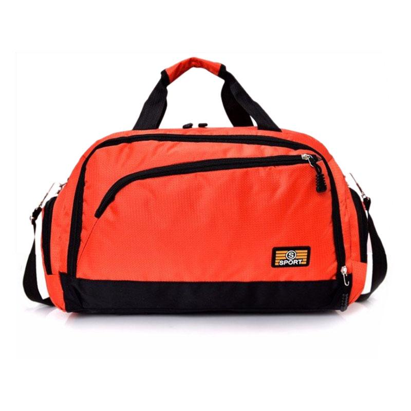 Scione женские водостойкие спортивная сумки дорожные мужские большие емкости нейлоновая Простые фитнес сумка через плеч(Китай)