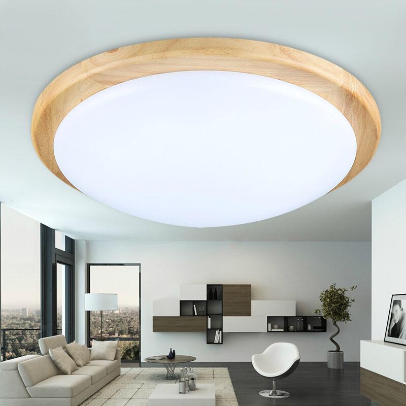 Modern OAK Led Ceiling Lamp Acrylic Wooden Led Ceiling