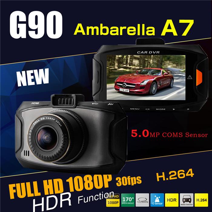 G90 камеры автомобиля DVR рекордер Ambarella A7 даш CAM 5 Мп полный HD 2.7