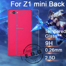 0.26mm 9H Explosion Proof Anti scratch LCD Tempered Glass Film For Sony Xperia Z1 mini Z1 compact Back Screen Protector Film