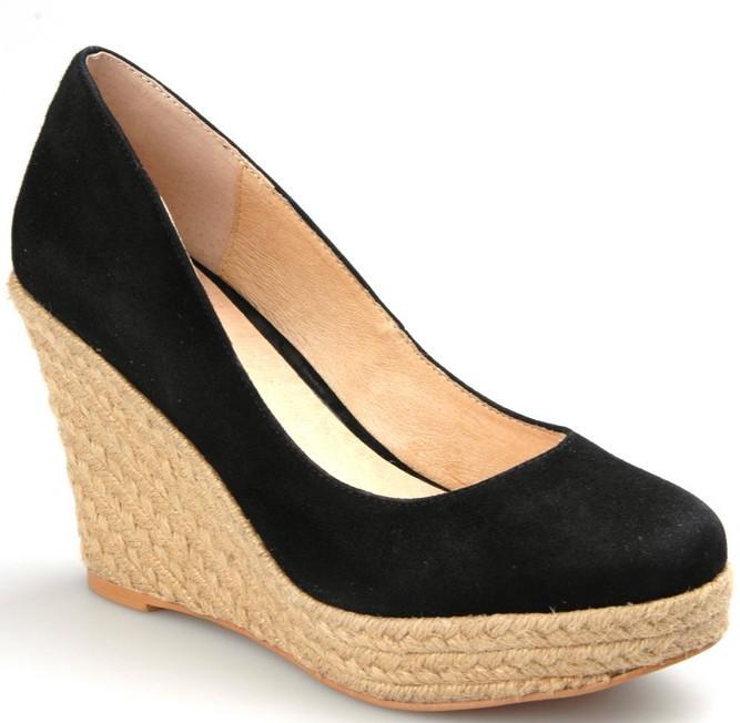 Wedges Blue Woman Shoes