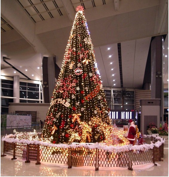 Christmas decorations 500CM green Christmas tree five ...