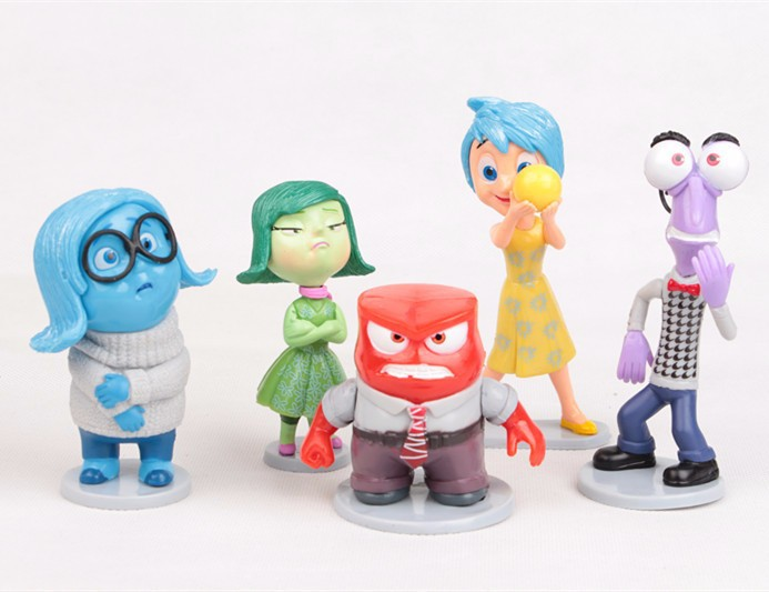 5pcs/set Cartoon Movie Inside Out Riley Joy Disgust Sadness Fear Anger PVC  Figure Toys Kids Toys Dolls Gifts for Children