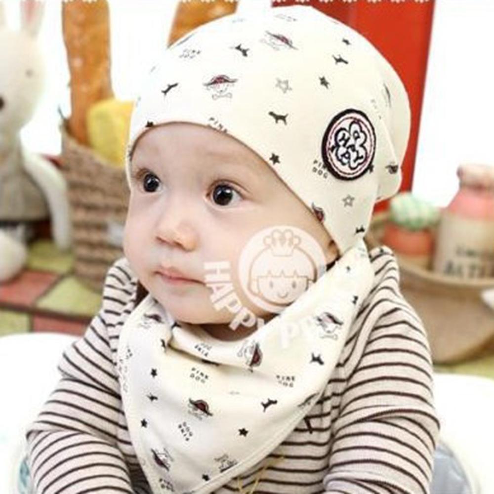 5417b70ede90 2019 Newborn Baby Girl Boy Kids Bandana Bibs+Hat Saliva Towel ...