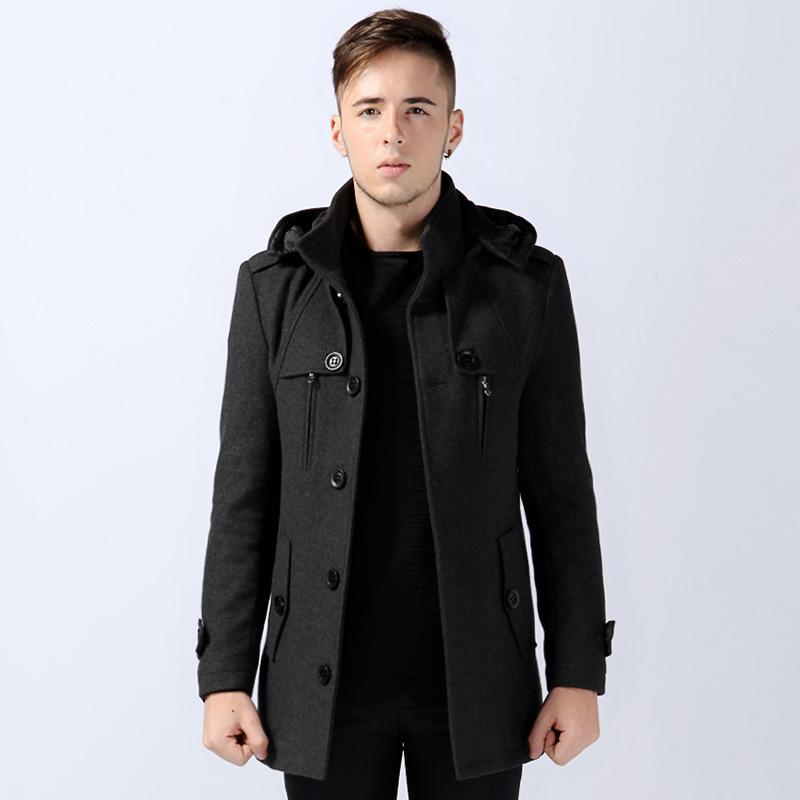 Hooded Wool Duffle Coat Mens Sm Coats