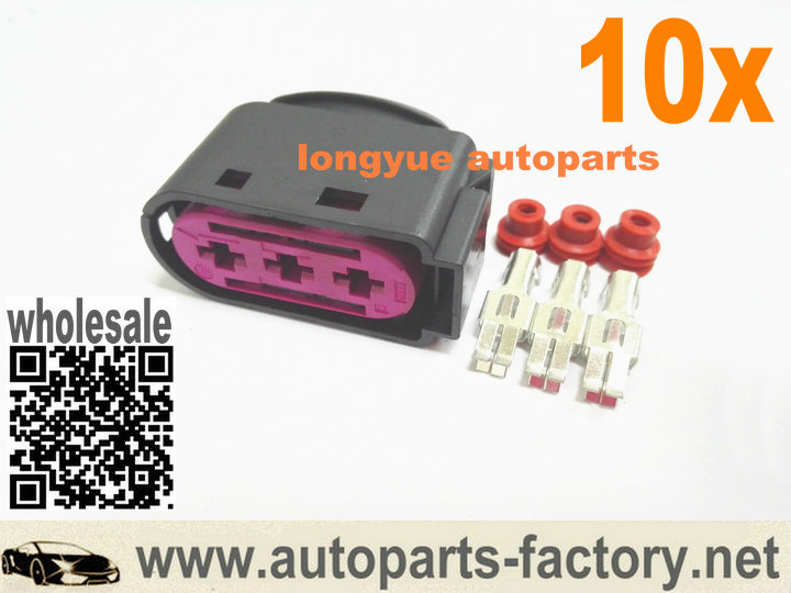 online buy whole vw oem connector pins from vw oem longyue 10pcs 3 way pin oem fuse box repair connector kit 1j0 937 773 case
