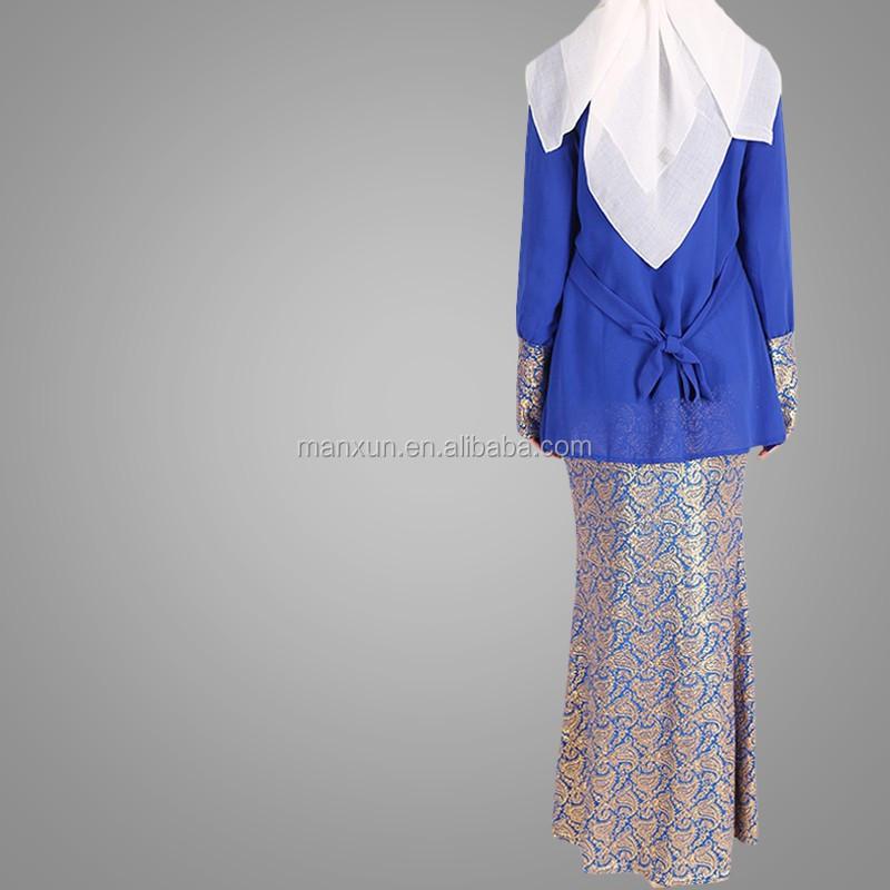Muslim Fashion Songket Baju Kurung High Quality Chiffon