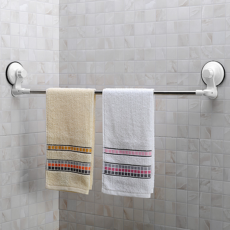 bathroom stainless steel suction cup towel rack bathroom single towel bar towel hanging rack. Black Bedroom Furniture Sets. Home Design Ideas