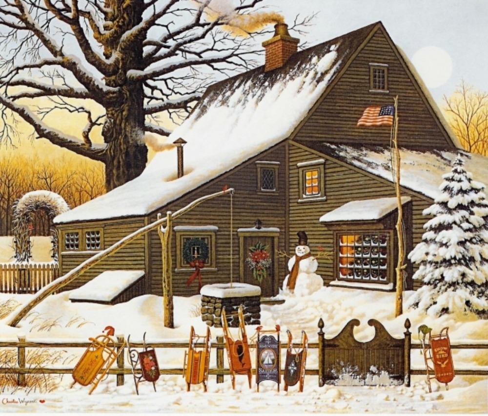 Popular Winter Landscape Paintings Buy Cheap Winter