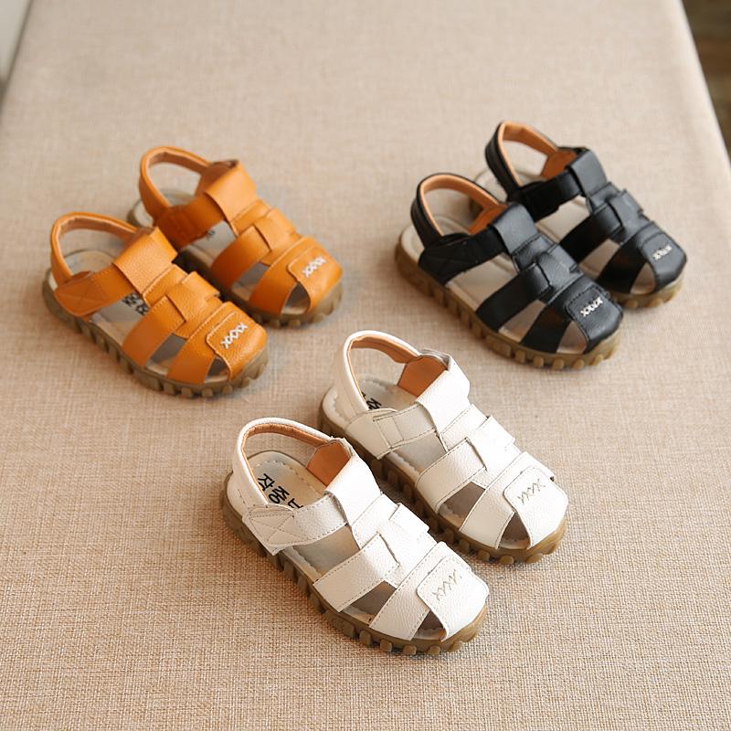 2016 Summer New Fashion Children s Sandals Boys Sandals Children Sandals Slip Baby Beach Shoes White