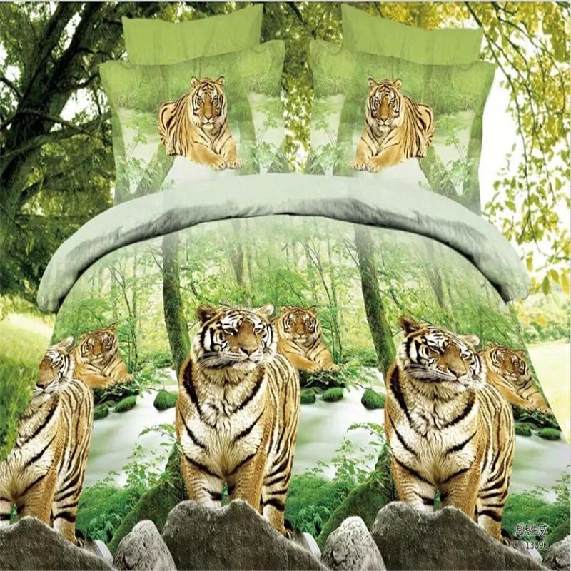 housse de couette sans couette animaux tigre housse de couette couvre lit linge de lit. Black Bedroom Furniture Sets. Home Design Ideas
