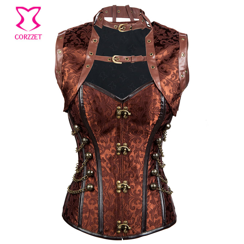 2636fd30e1 Sexy Corsets and Bustiers Burlesque Costume Gothic Corpetes E Espartilhos  Plus Size Corset Jacket Corselet Steampunk Clothing