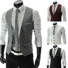 2014 new arrival men suit vest slim dress vests slim Leisure waistcoat formale gentle business jacket size M-XXL PM07