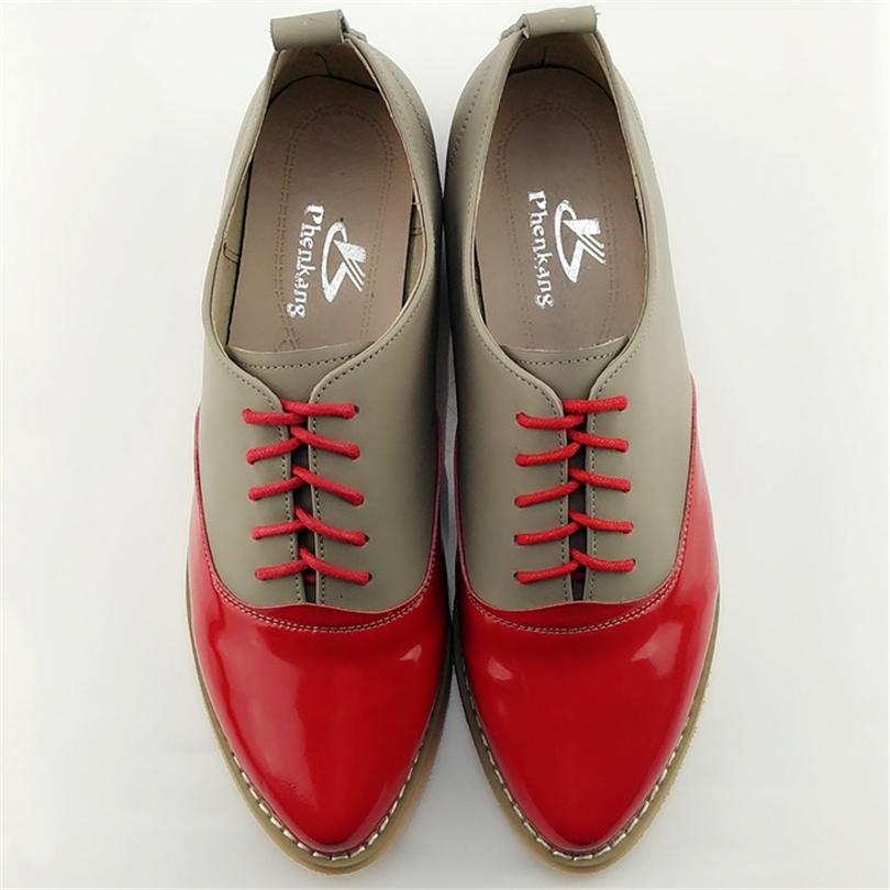 buy 2017 genuine leather big woman us size 9 5 designer vintage flat shoes. Black Bedroom Furniture Sets. Home Design Ideas