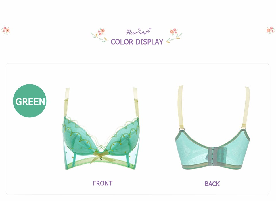 2da41b84c9236 Realwill Hot Selling Women Bra Wireless Thin Lace Bras Push Up Burgundy  Breathable Bra New Nature Inspired Underwear Femme