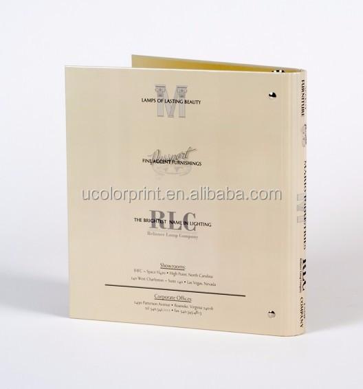 Custom Gold Foiled Office Binder Folder With Press Stud