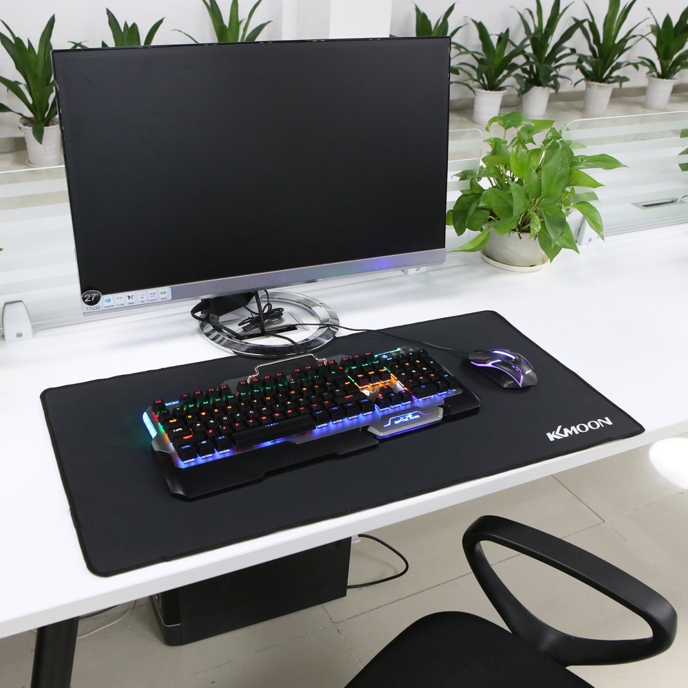 - KKmoon Gaming Large Mouse Pad L M S Size Non Slip Rubber Computer